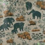 วอลเปเปอร์ลายไทยลายช้างป่า