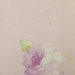 วอลเปเปอร์ติดผนังลายดอกไม้สีม่วง