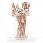 TEAM BRIDE Straws