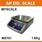 เครื่องชั่งตั้งโต๊ะ1.5kg/0.5g แท่น182x226mm. ยี่ห้อ MY SCALE รุ่น MS701 SERIES