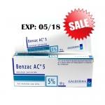 [EXP:05/18] Benzac AC 5% 60g ยาละลายหัวสิว สำหรับสิวอักเสบ และสิวอุดตัน
