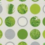 Wallpaper ห้องครัว ลายวงกลมผักสีเขียว