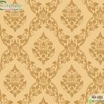 wallpaper ลายไทยห้องพระ ลายพุดตานสีทอง