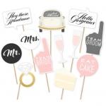 PINK & Grey Photo Prop Set for Wedding