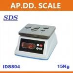 ตาชั่งดิจิตอล เครื่องชั่งกันน้ำ ตาชั่งกันน้ำ รุ่น IDS804-15Kg ค่าละเอียด 1 กรัม ยี่ห้อ SDS ไต้หวัน ราคาถูก คุณภาพดี