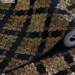 wallpaper ลายไทย ตราประจำยาม สีดำ-ทอง