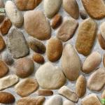 วอลเปเปอร์ลายหินฝังปูนสีน้ำตาลอ่อน