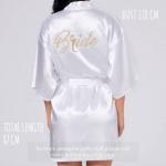 Bride White Satin Robe (ชุดคลุมเจ้าสาว)