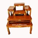 โต๊ะหมู่บูชาไม้สัก หมู่ 5 หน้า 7