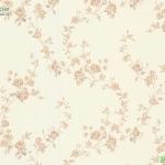 วอลเปเปอร์ดอกไม้วินเทจกุหลาบชมพูพื้นครีม