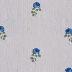 Wallpaper วินเทจดอกกุหลาบน้ำเงินพื้นขาว