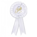 BRIDE TO BE Badge (White)