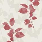 Wallpaper ลายใบไม้แดงพื้นครีม