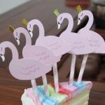 PASTEL FLAMINGO Cake Topper
