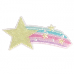 M0062 Space pastel star 8.5x4.2cm