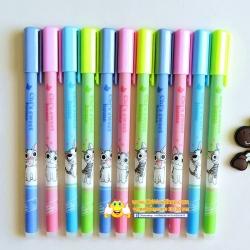 ปากกาเจลลบได้ด้ามลายแมวจี้(เจลน้ำเงิน) 120 บาท/โหล 12ชิ้น/โหล