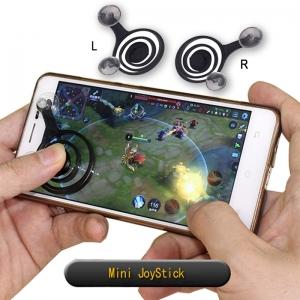 Mini JoyStick มินิจอยสติ๊ก จอยเกมมือถือ หนึ่งกล่องมี 2 ชิ้น (R/L) ใช้ได้กับมือถือทุกรุ่น ราคา 168 บาท / 12ชิ้น