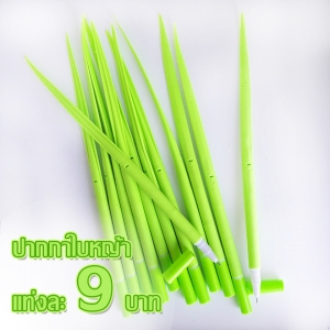 ปากกาใบหญ้า 108 บาท/โหล 12ชิ้น/โหล (เฉพาะสีเขียวอ่อน)