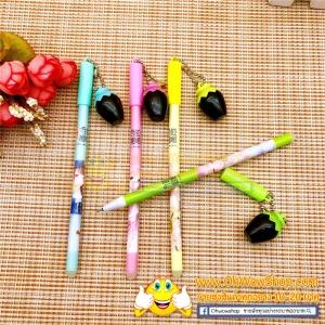 ปากกาห้อยขวดโหลสีดำ (ลบได้) 108 บาท/โหล 12ชิ้น/โหล