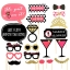 PINK & BLACK Glitter Photo Prop for Hen Night