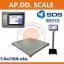 ตาชั่งดิจิตอล เครื่องชั่งน้ำหนักตั้งพื้น 1000กิโลกรัม ความละเอียด 100กรัม แบบมีเครื่องพิมพ์สติกเกอร์ในตัว ยี่ห้อ SDS รุ่น IDS713มี Built-In Printer ขนาดแท่น 100x100cm. ในตัว สามารถปริ้นสติ๊กเกอร์ได้ thumbnail 1