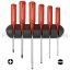 ชุดไขควง PB Swiss Tools รุ่น PB 244 ปากแบนและแฉก ด้าม Classic สีแดง พร้อมที่ติดผนัง (6 ตัว/ชุด)