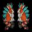 L0065 Duo Rabbit 14x29cm