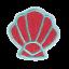 S0107 Mermaid Shell 4.3x4.5cm