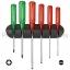 ชุดไขควง PB Swiss Tools รุ่น PB 245 ปากแบนและปาก PZ ด้าม Classic สีแดง พร้อมที่ติดผนัง (6 ตัว/ชุด)