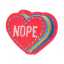 S0002 Nope Red Heart 6.1x5.2cm