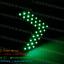 ไฟเลี้ยว LED SMD 33 ดวง กระพริบ 3 Step สีเขียว