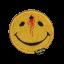 Custom Smiley face bullet hole