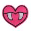 M0002 Vampire heart 8.2x7.2cm
